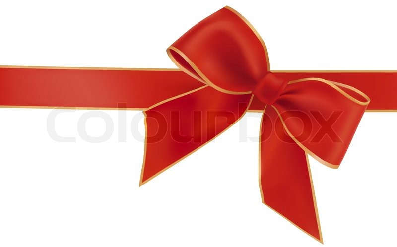 800x498 Gift Red Bow With A Ribbon. Vector. Stock Vector Colourbox