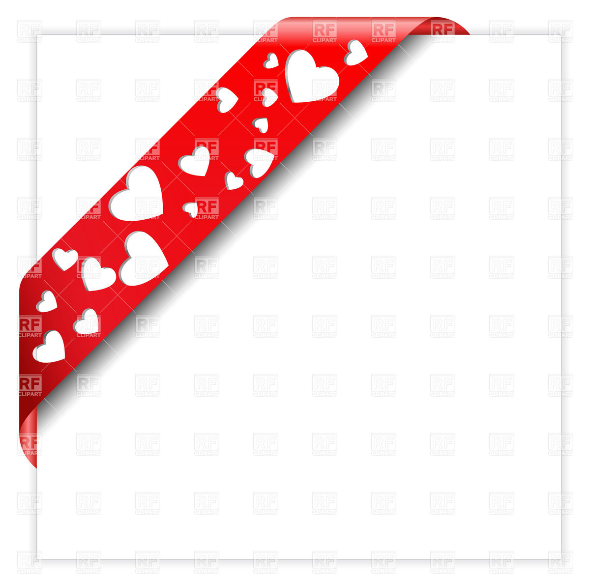 1200x1192 Heart Shaped Perforated Valentine Red Ribbon Vector Image Vector