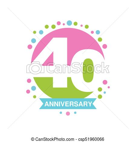 450x470 40th Anniversary Colored Logo Design, Happy Holiday Festive