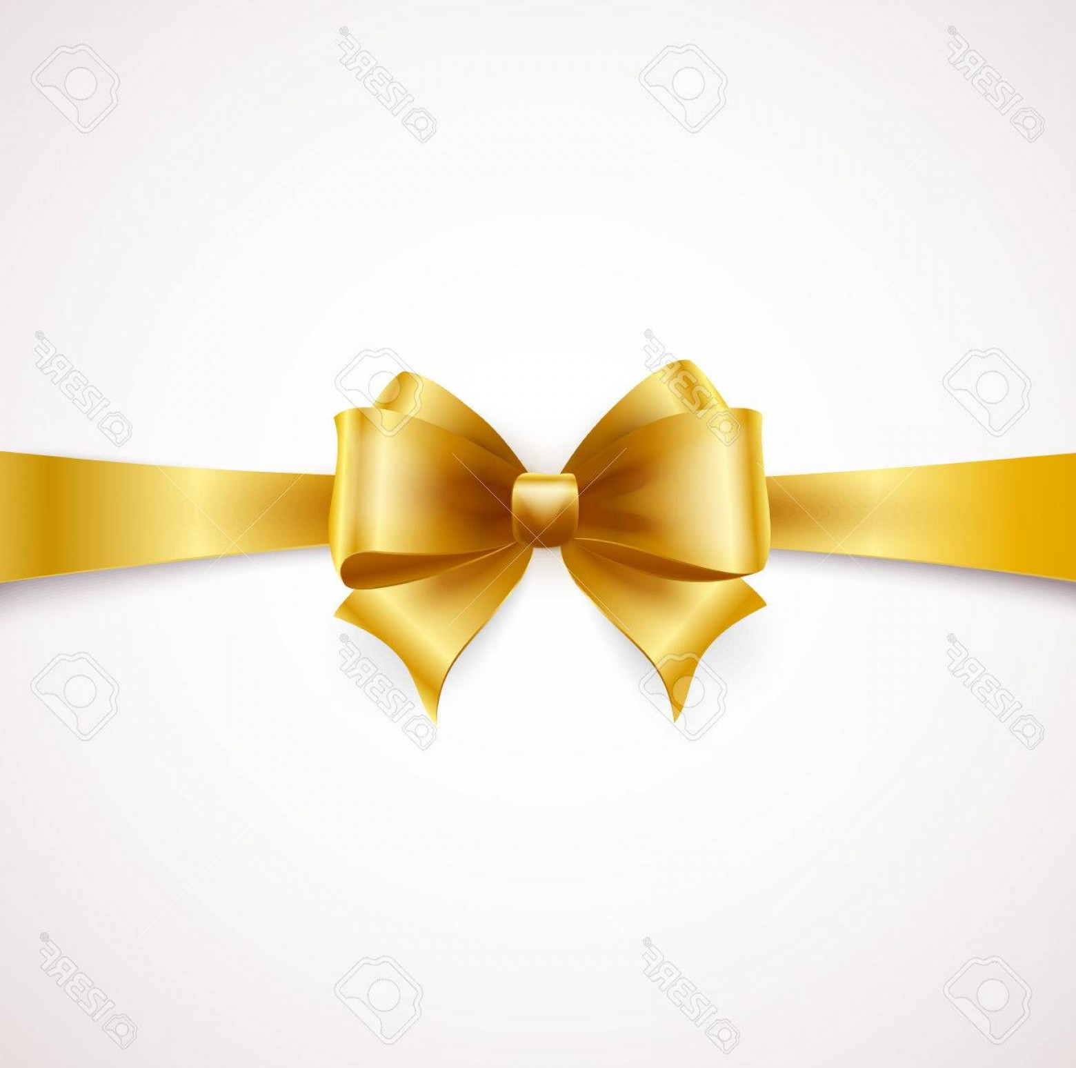 1560x1548 Photostock Vector Holiday Ribbon And Golden Bow Vector