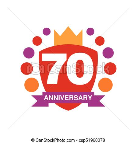 450x470 70th Anniversary Colored Logo Design, Happy Holiday Festive