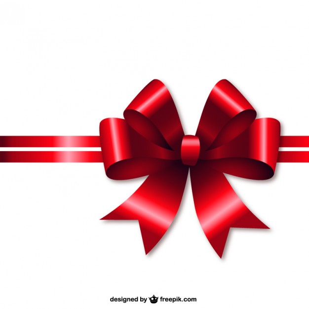 626x626 Red Christmas Ribbon Vector Free Download