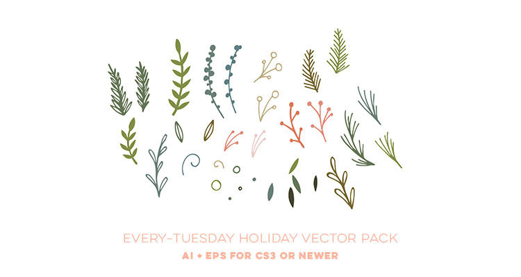 750x400 Freebie Holiday Vector Pack