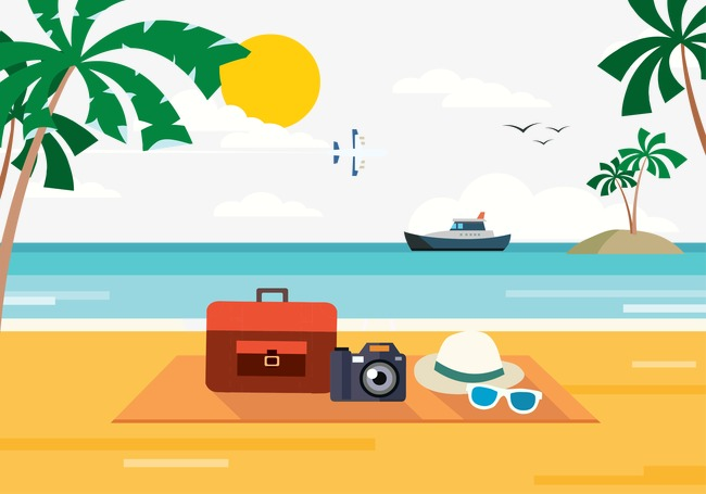 650x455 Holiday Beach, Beach Vector, Holiday, Enjoy Png And Vector For