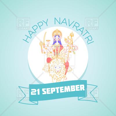 400x400 Holiday Navratri Greeting Card