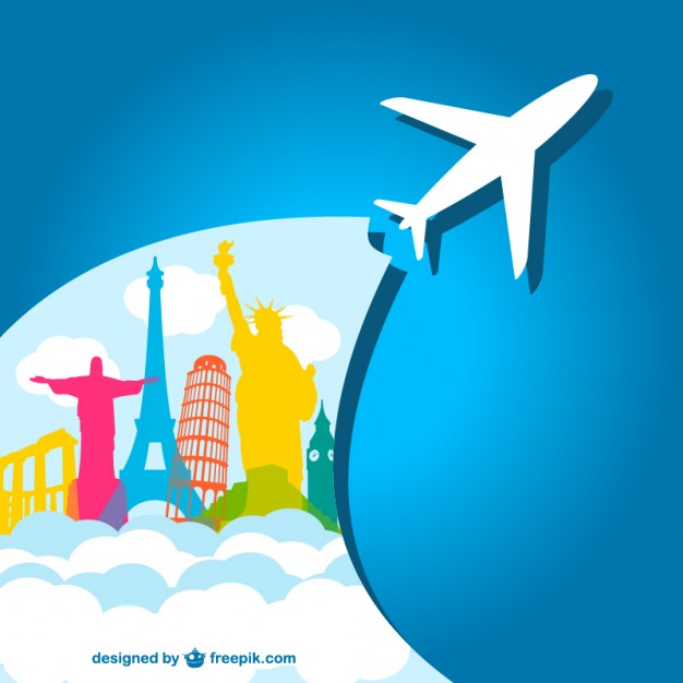 626x626 Airplane Holiday Vector Template Vector Free Vector Download In