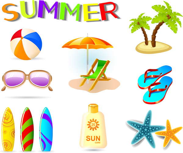 600x503 Vector Illustration Of Summer Holiday Icons Free Vector In Adobe