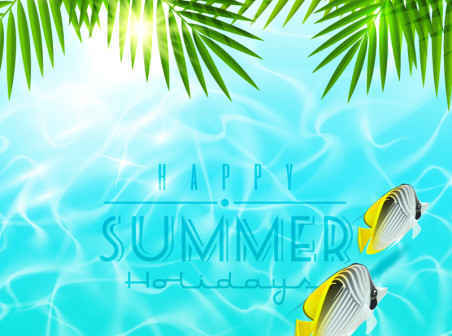 452x336 Beautiful Summer Holiday Vector Background Free Vector