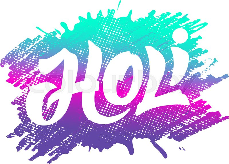 800x575 Colorful Artistic Badge With Text For Holi Festival Decoration