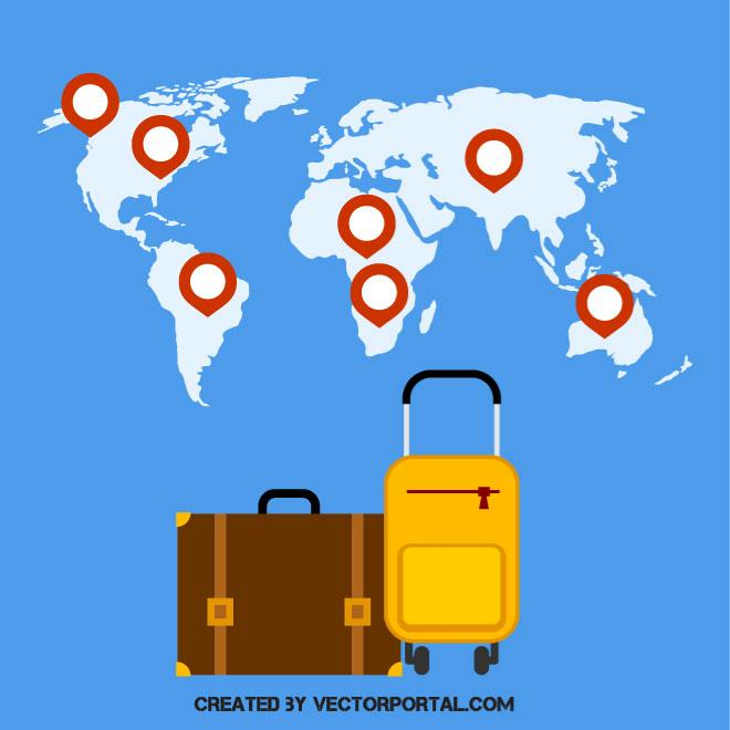 660x660 Holiday Travel Vector Graphics