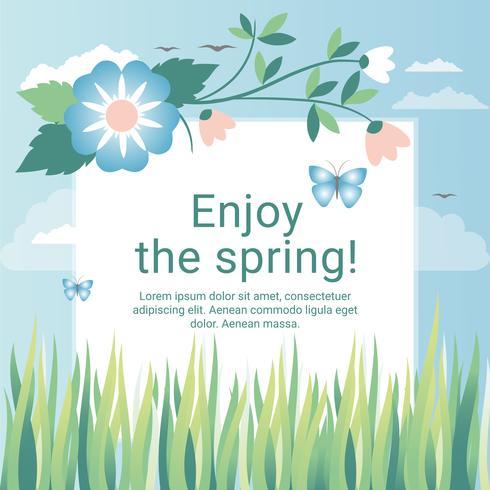 490x490 Spring Holiday Vector Illustration
