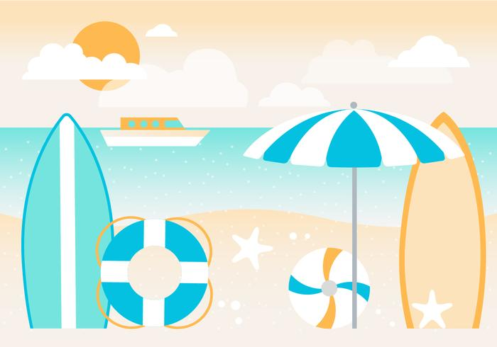 700x490 Summer Holiday Vector Background