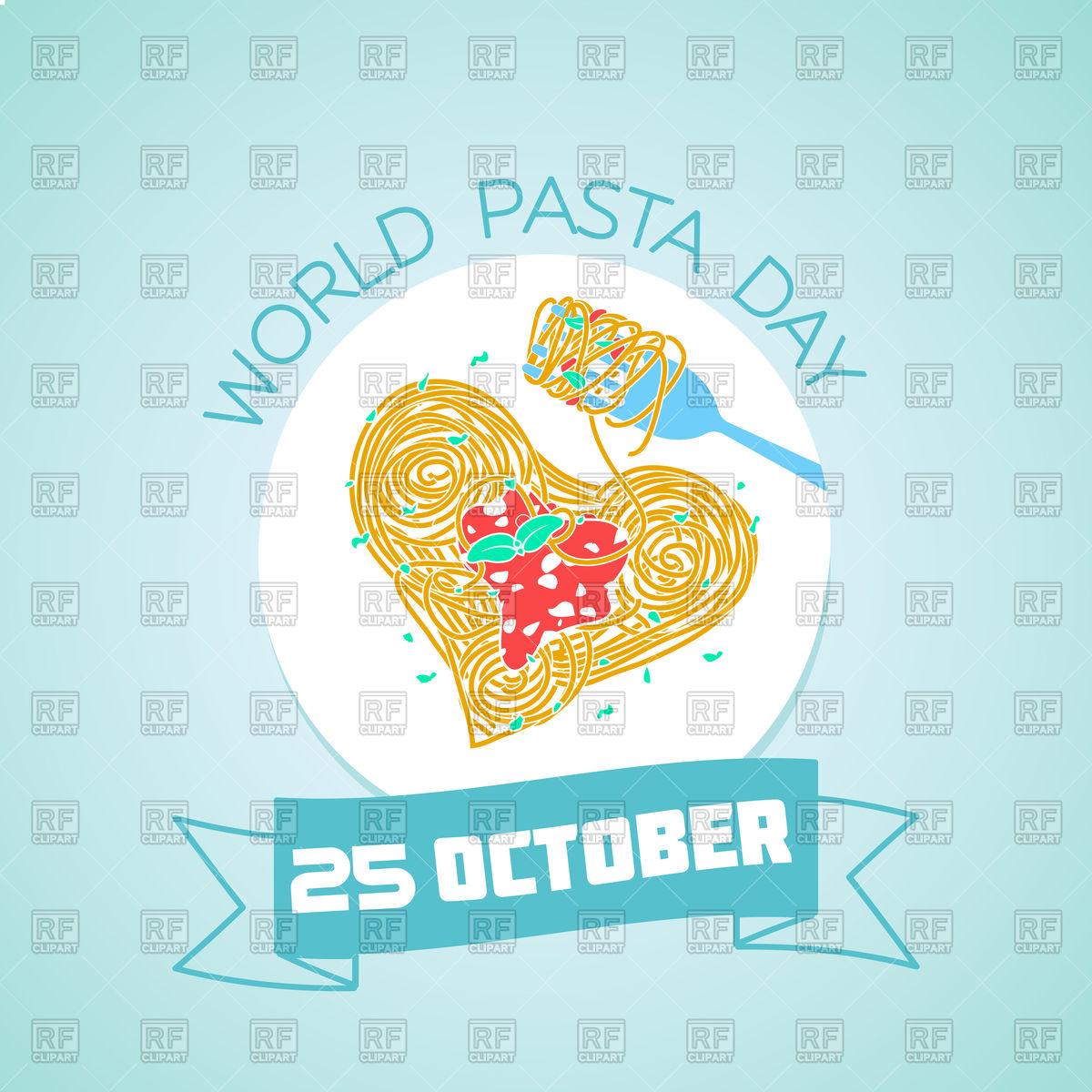 1200x1200 World Pasta Day Greeting Card With Spaghetti