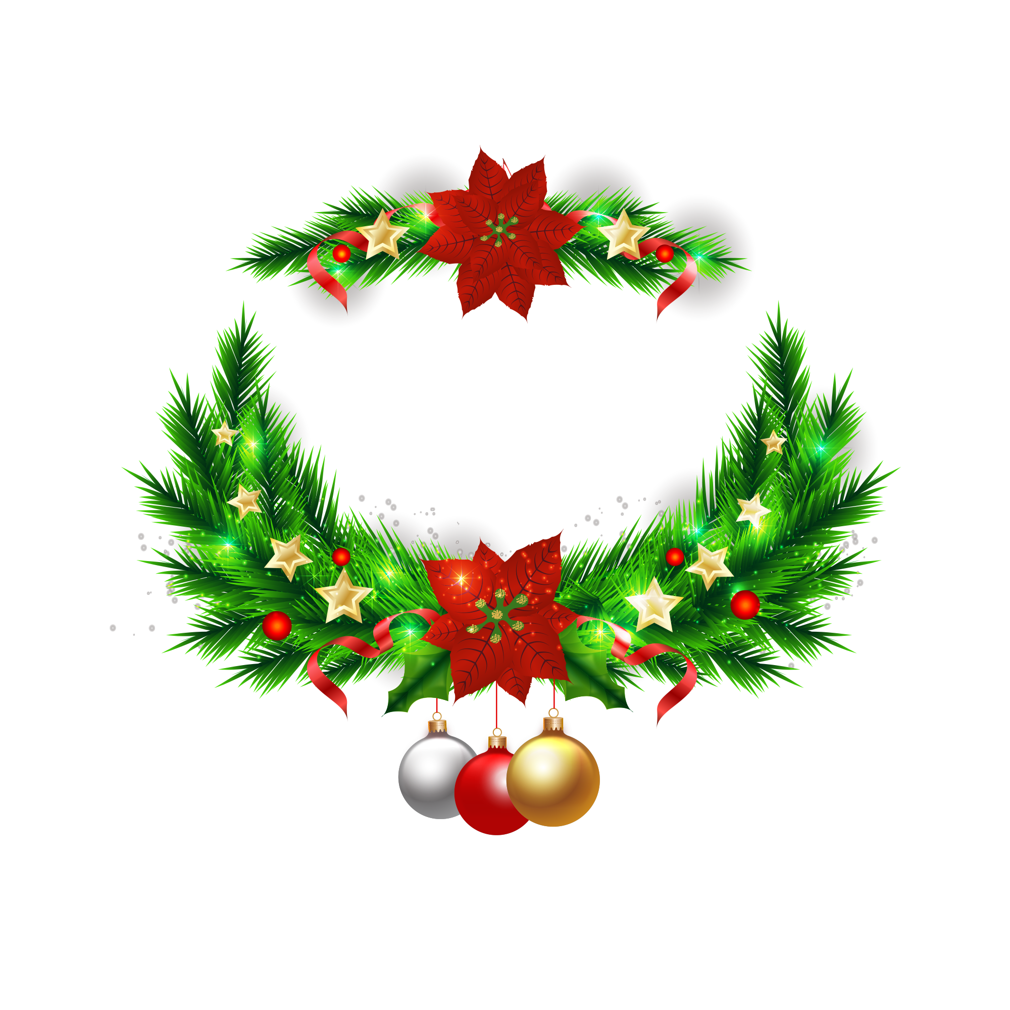 Holiday Wreath Vector