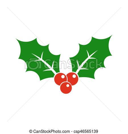 450x470 Christmas Holly Berry Symbol Icon Illustration.