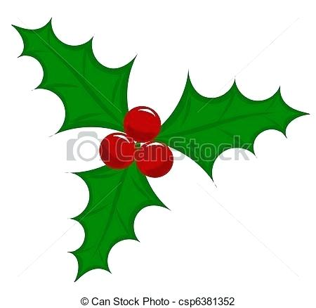 450x438 Holly And Berries Clip Art Holly Leaf Stock Vector Illustration