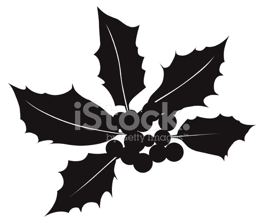 521x440 Holly Berry Silhouette Vector Stock Vector