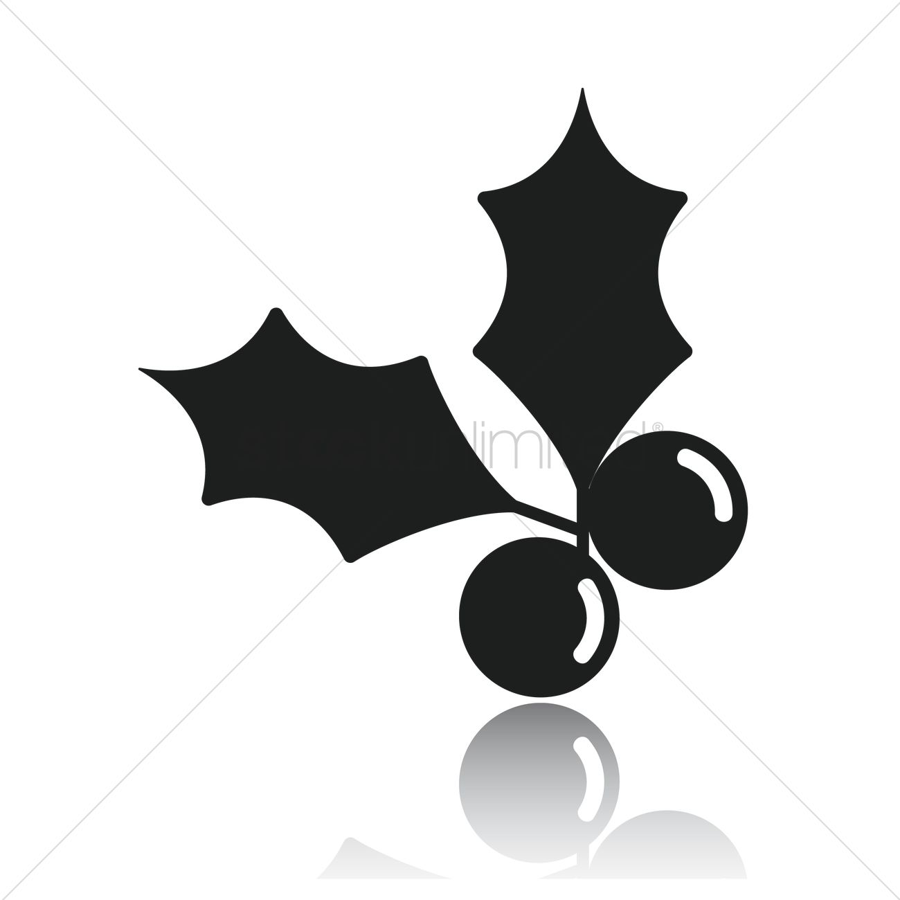 1300x1300 Holly Berry Vector Image