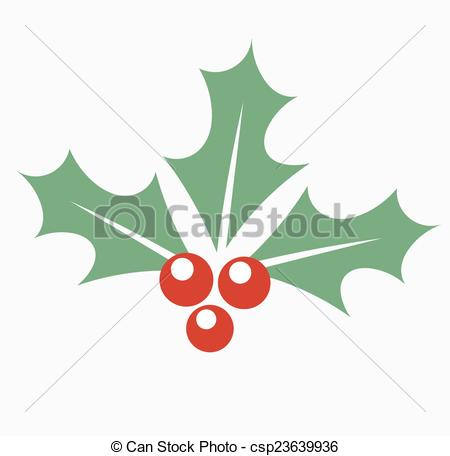 450x456 Holly Berry Christmas. Christmas Plant Holly Berry. Vector