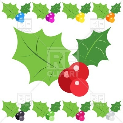 400x400 Holly Berry In Different Colours Vector Image Vector Artwork Of
