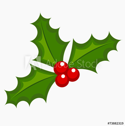 496x500 Holly Berry Vector