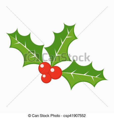 450x466 Holly Berry Vector. Holly Berries Vector Illustration.