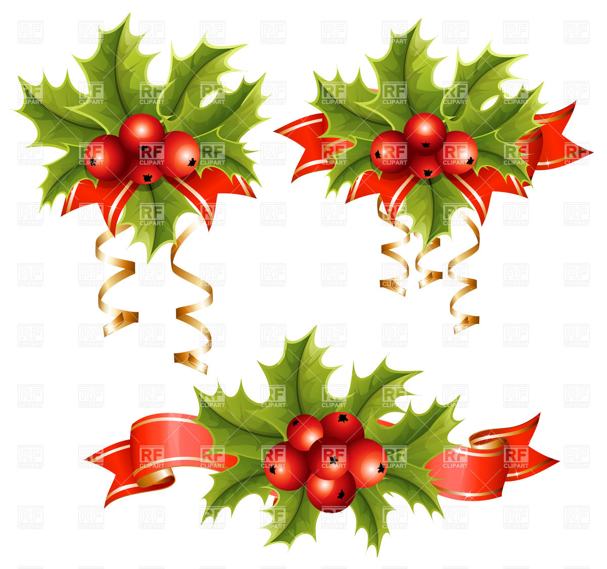 1200x1126 Holly With Berries Vector Image Vector Artwork Of Holiday