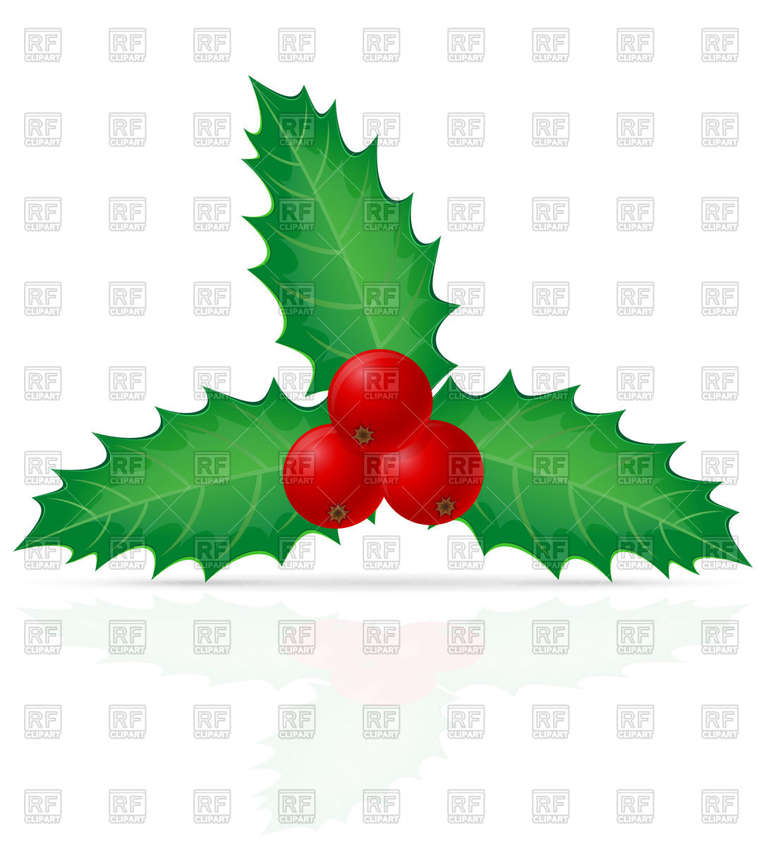 1086x1200 Christmas Holly Berry Vector Image Vector Artwork Of Design