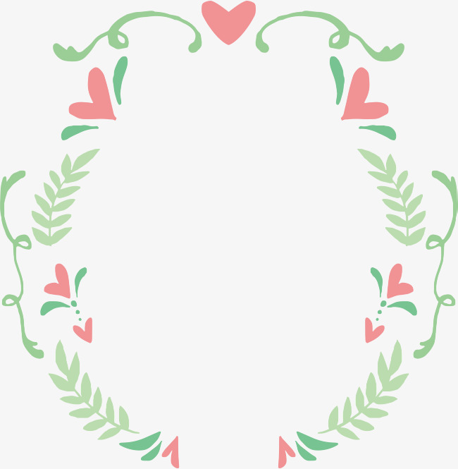 650x665 Cute Green Leaves Borders, Vector Png, Leaves The Border, Pink