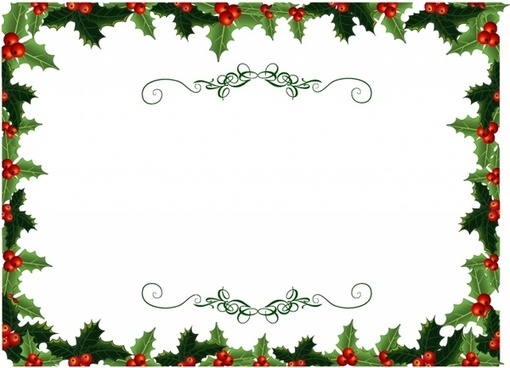510x368 Holly Border Free Vector Download (5,605 Free Vector) For