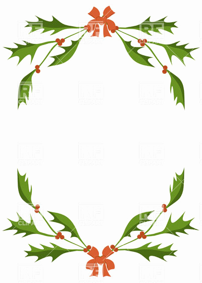 400x560 Snowflake Border Clip Art Free Lovely Frame Of Holly Berry