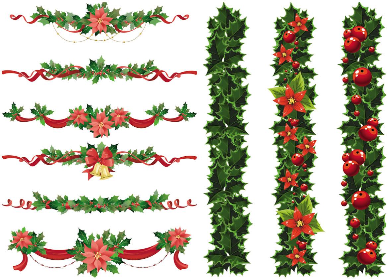 1170x839 Vintage Christmas Garland Clipart