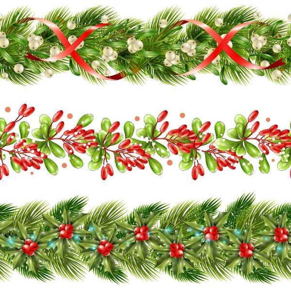 600x598 Holly Border Christmas Decor Vector Free Download
