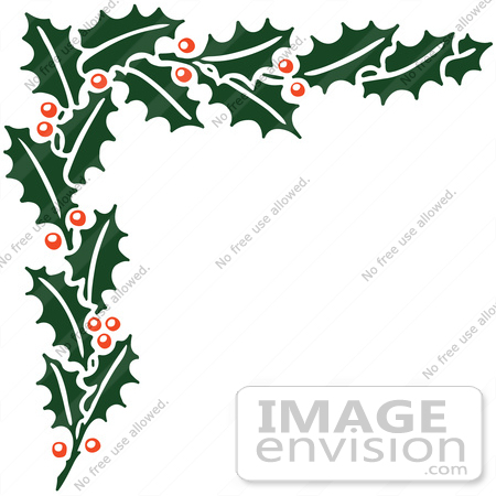 450x450 Christmas Corner Border Clipart