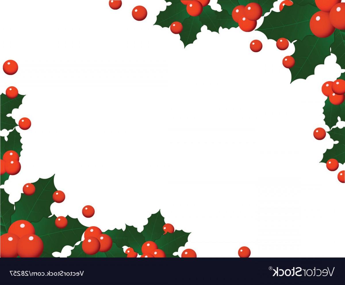 1200x994 Christmas Holly Landscape Border Vector Rongholland