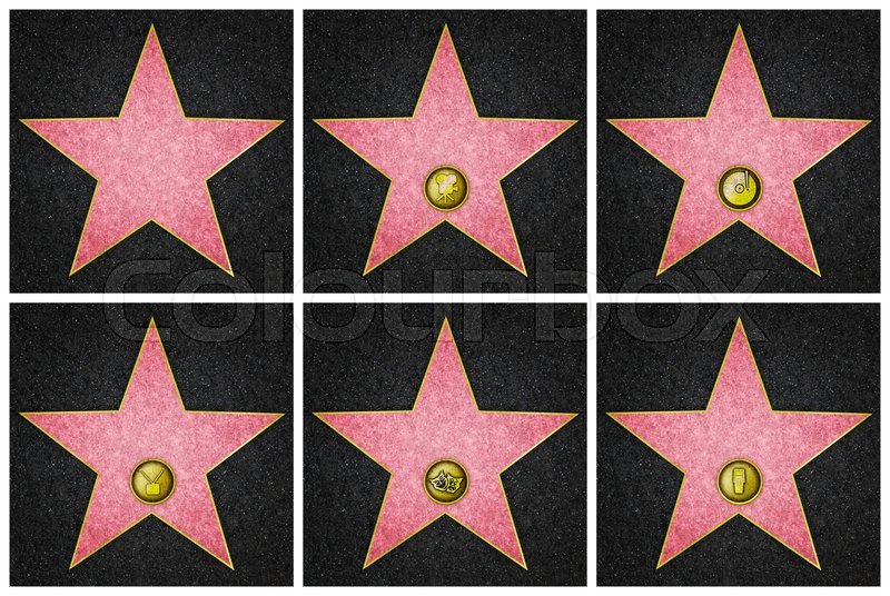 graphic relating to Hollywood Star Template Printable identify Hollywood Star Vector at  Totally free for specific