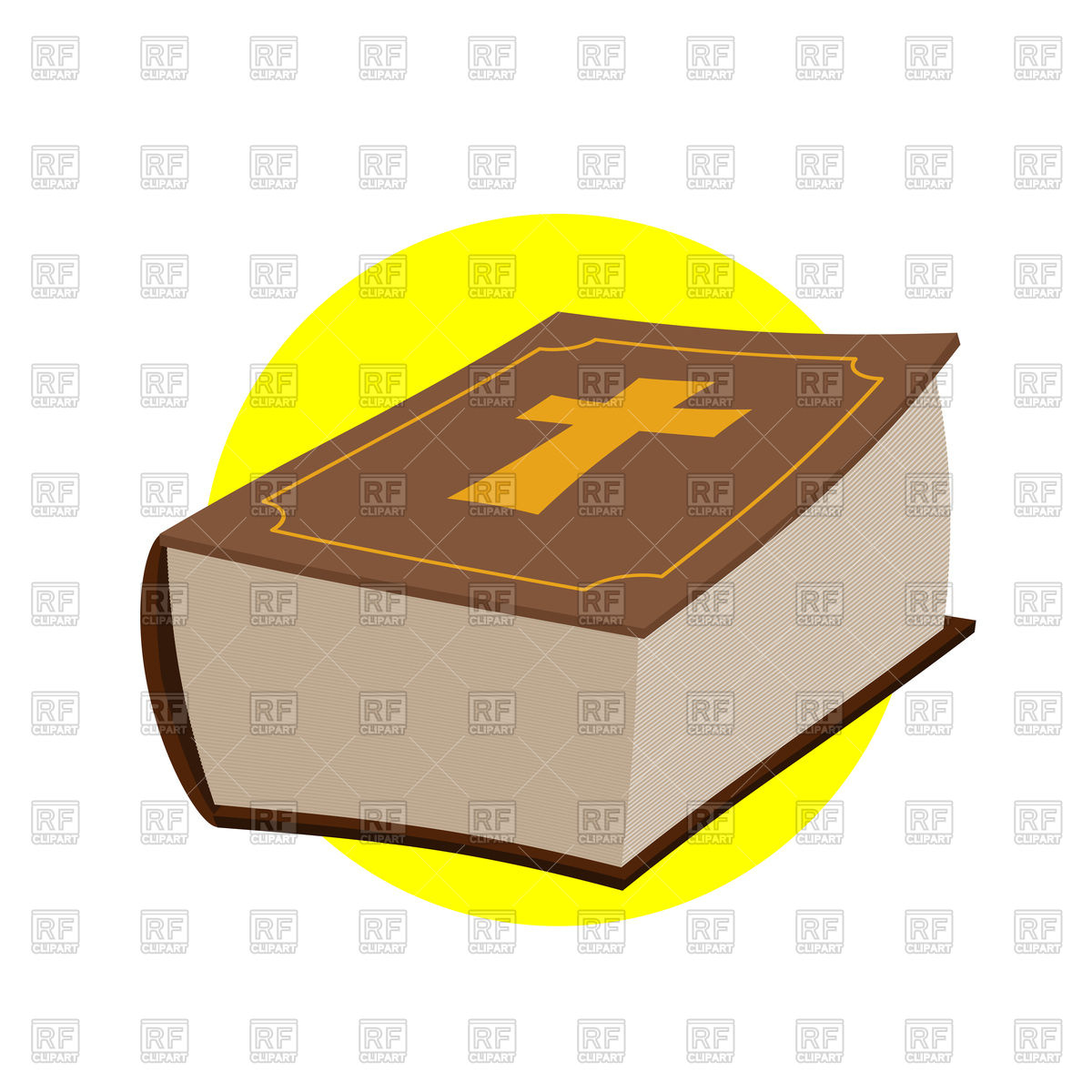 1200x1200 Holy Bible, Closed Old Book With Cross Vector Image Vector