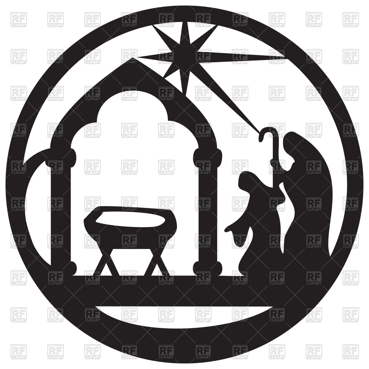 1200x1200 Adoration Of Magi Silhouette Icon. Scene Of Holy Bible Vector