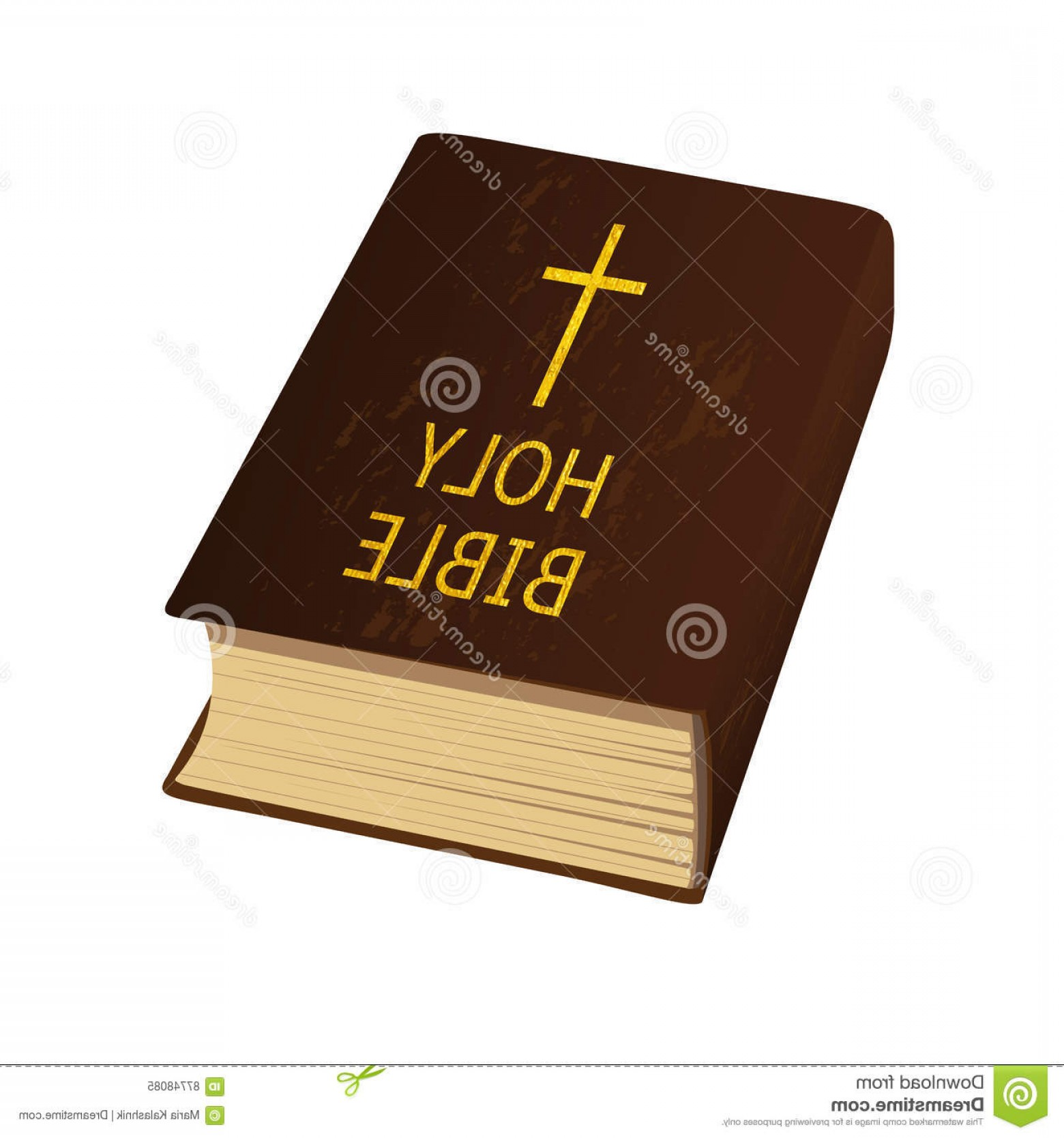 1560x1668 Stock Illustration Holy Bible Vector Illustration Hard Cover