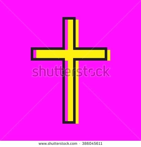 450x470 Holy Cross Pictures Color Cross Holy Cross Flat Vector Icon Yellow