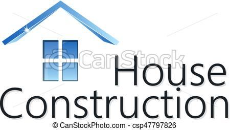450x254 Home Construction Silhouette. Home Construction Business Silhouette.