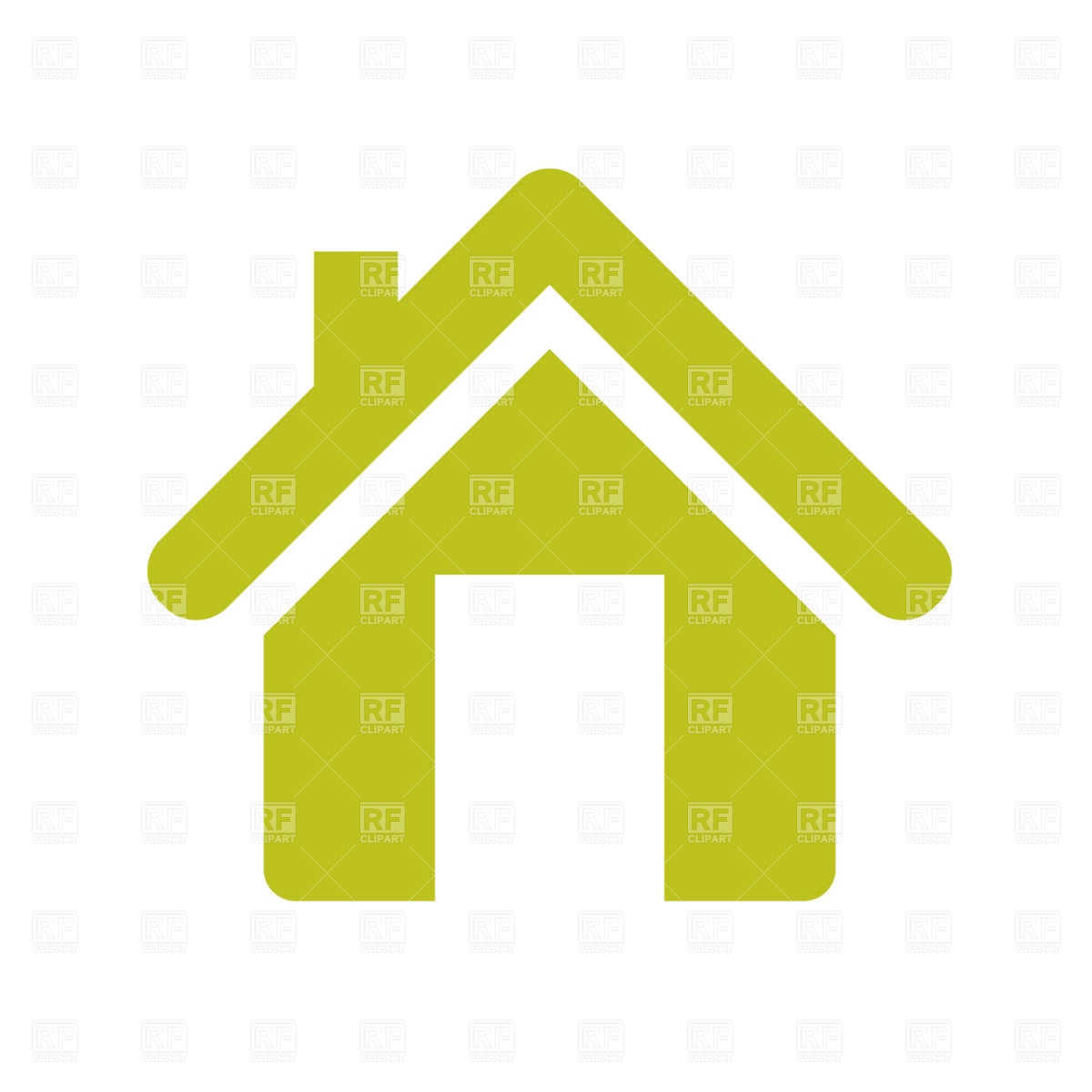 1200x1200 Home Icon, House With Flue Free Vector Image Vector Artwork Of