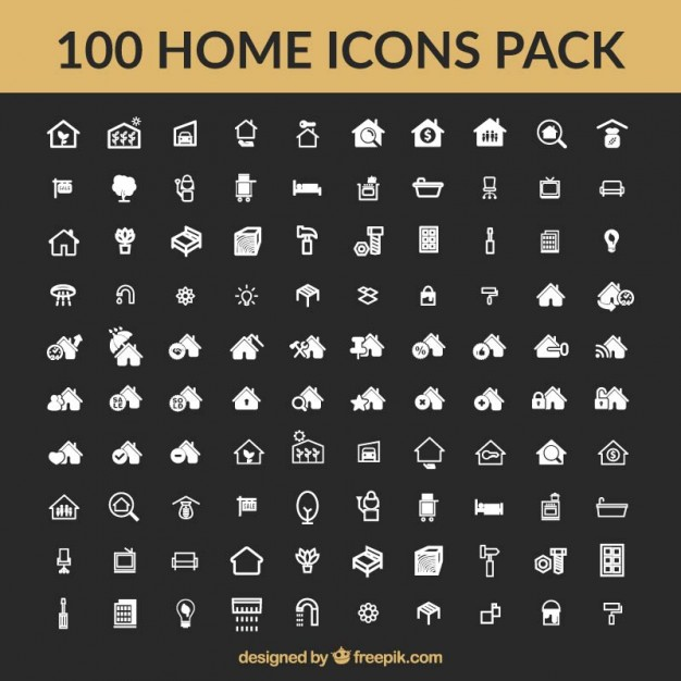 626x626 Home Icons Collection Vector Free Download