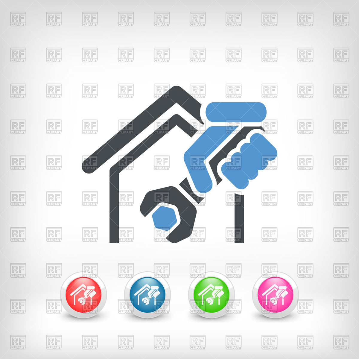 1200x1200 Home Professional Services Icon Vector Image Vector Artwork Of
