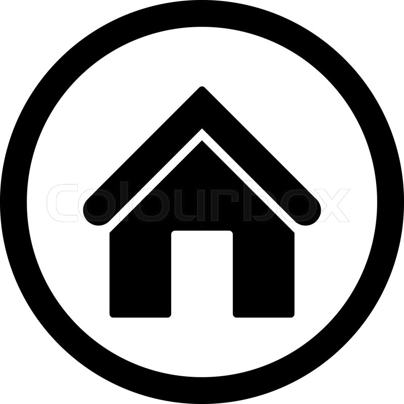 800x800 Home Vector Icon. This Rounded Flat Symbol Is Drawn With Black