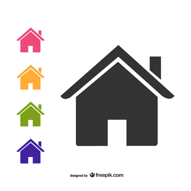 626x626 House Icons Pack Vector Free Download