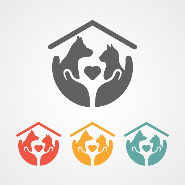 626x626 Pet Care Logo With Home Icon Vector Premium Download