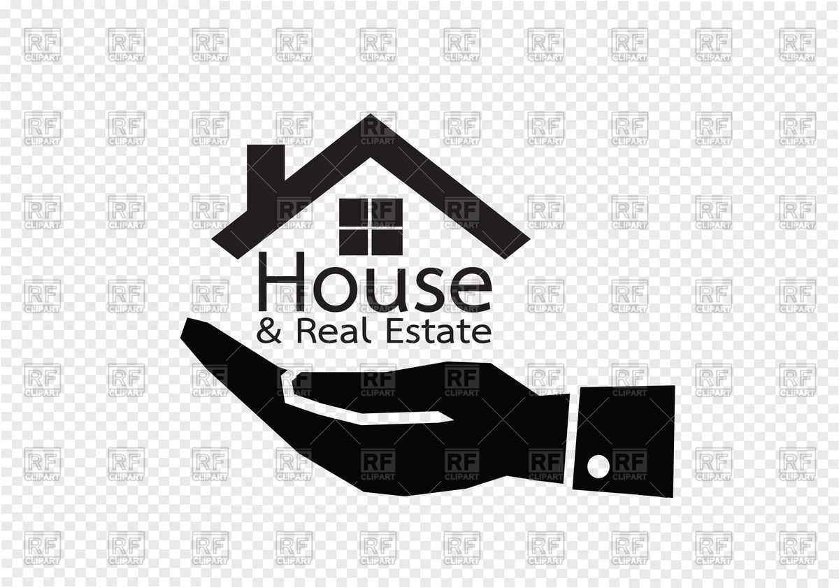 1200x841 Real Estate Concept. Hand And Home Icon. Vector Image Vector