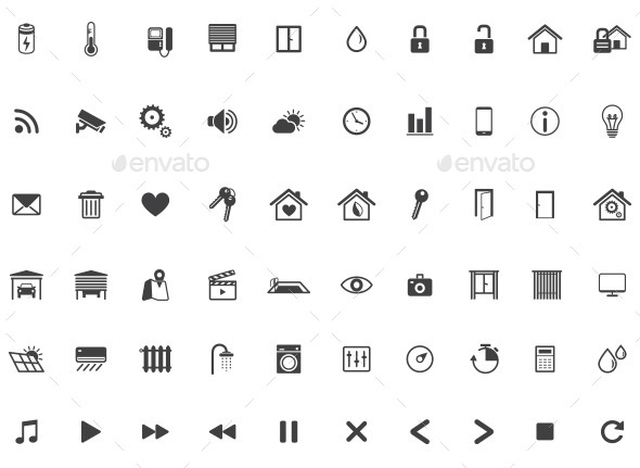 590x431 Home Automation, Smart Home Icon Set, Vector By Dilyanah