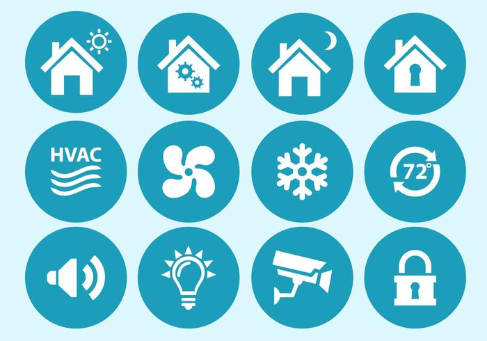 700x490 Home Automation And Security Interface Icons